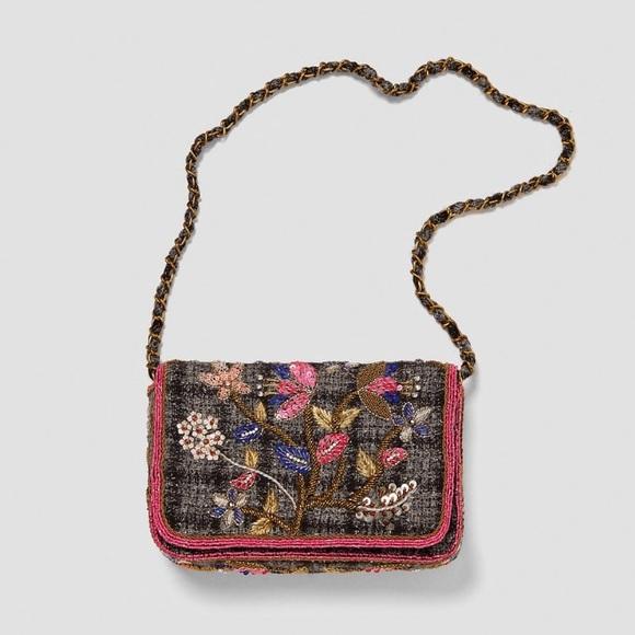 1f7527b41e7 Zara Bags   Special Edition Embroidered Bag Crossbody   Poshmark